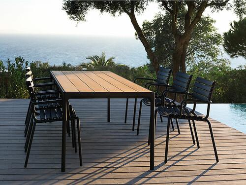 Tisch Four B 210 cm | Gestell: schwarz