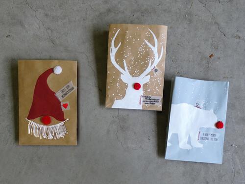 Geschenktüten Winter PomPom Tüten