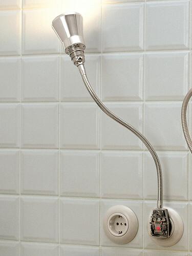 Steckerleuchte Glühwürmchen DeLuxe Alu-Kegelreflektor, glanzeloxiert | LED