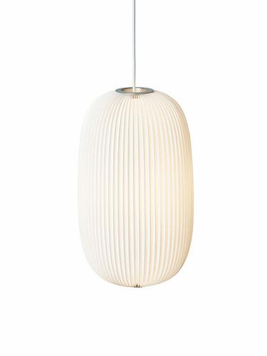 Hängeleuchte Lamella H 52 cm, Ø 30 cm | weiß