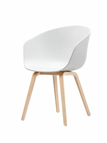 Armlehnstuhl About A Chair AAC22 Gestell Eiche natur | weiß
