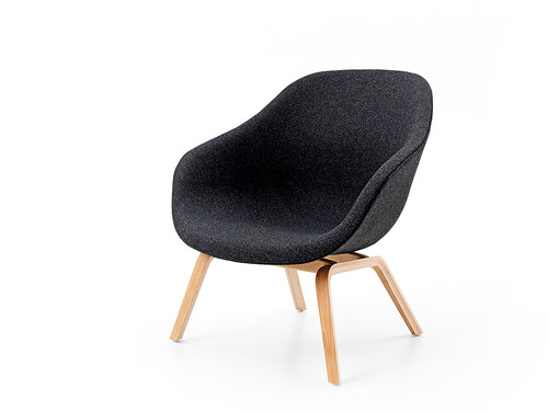 Sessel About A Lounge Chair AAL Höhe 81 cm | dunkelgrau