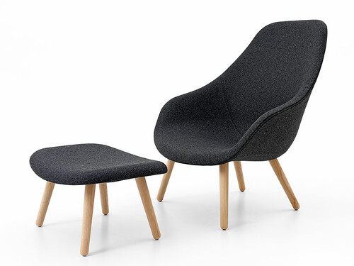 Sessel About A Lounge Chair AAL Höhe 101 cm | dunkelgrau