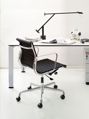 Bürodrehsessel Alu-Chair Stoff, Gestell verchromt | Stoff, schwarz, verchromt
