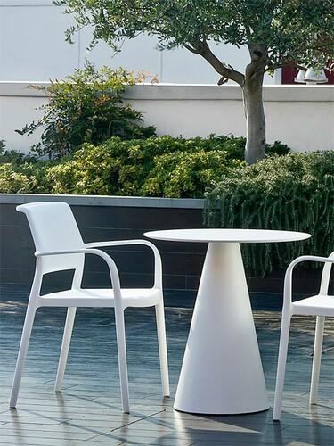 Tisch Ikon rund | weiß