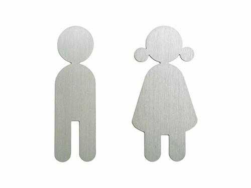 Toilettenschilder Junge und Mädchen (1 Paar) | Edelstahl