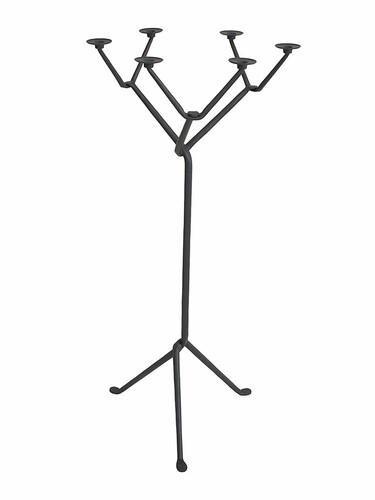 Kerzenleuchter Officina mit 6 Armen | anthrazitgrau