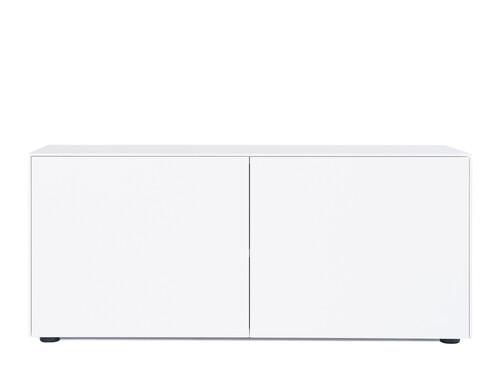 Kommode F10 Connect H 52 cm   2 Türen   weiß