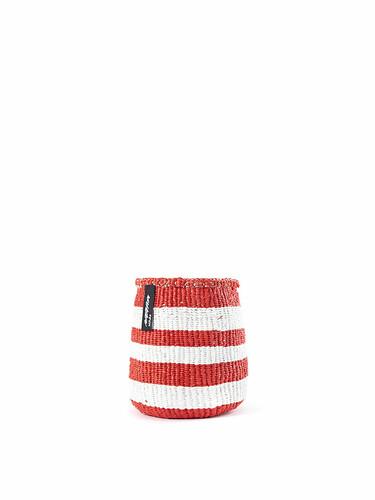 Korb Kiondo Höhe 16 cm, Ø 15 cm | rot-weiß gestreift
