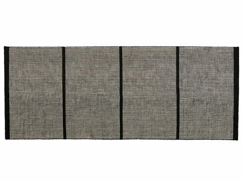 Teppich Helga 80 x 240 cm | dunkelgrau/beige