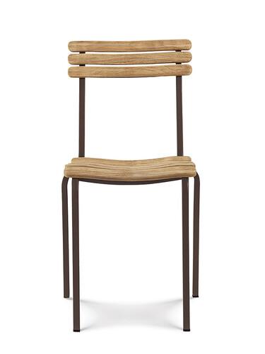 Stuhl Laren Stuhl | kaffeebraun/Teak, natur