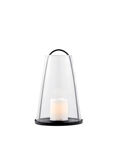 Laterne Albert Table Tischlaterne mit LED-Kerze | transparent