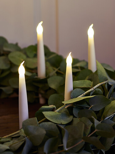 LED-Baumkerzen kabellos Carolin 4er-Set | weiß