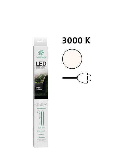 LED-Beleuchtung Herstera 40 cm mit Stromzufuhr, warmweiß Länge 40 cm, mit Stecker | warmweiß