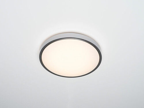 LED-Deckenleuchte Diss H 8,5 cm, Ø 29 cm | silberfarben