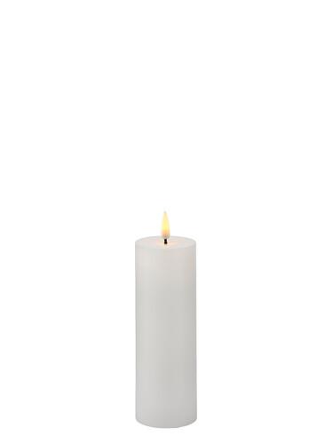 LED-Echtwachskerzen Sille Exclusive Ø 5 cm | H 15 cm | weiß