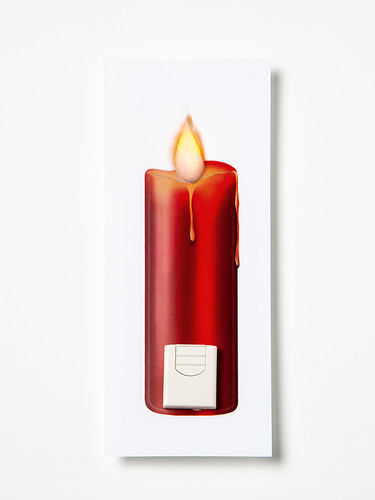 LED-Fensterbild Kerze