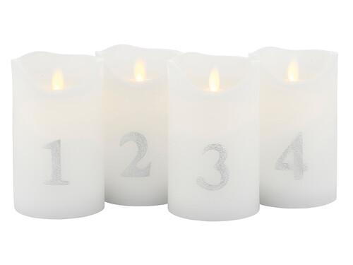 LED-Kerzen, 4er Set Sara Advent