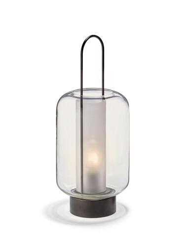 LED-Laterne Lucia H 39 cm   glas