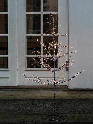 LED-Lichterbaum Alex Tree H 120 cm, 160 Lichter   dunkelbraun