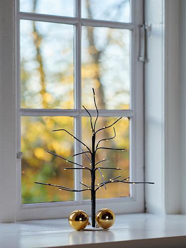 LED-Lichterbaum mit Fuß Kira Tree H 35 cm | dunkelbraun