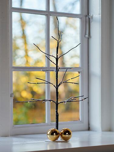LED-Lichterbaum mit Fuß Kira Tree H 50 cm | dunkelbraun
