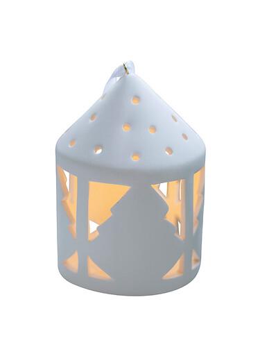 LED-Teelichtlaterne Olina Tree, rund | weiß