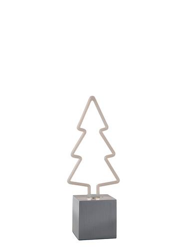 LED-Tischleuchte Firi Tannenbaum, H 28 cm | weiß