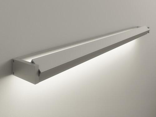 LED-Wandleuchte GL 6 mit LED-Weißadaption   Breite 60 cm   aluminiumfarbig
