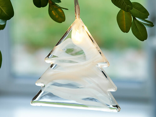 LED-Weihnachtsbaumanhänger Agnes Tree | Glas