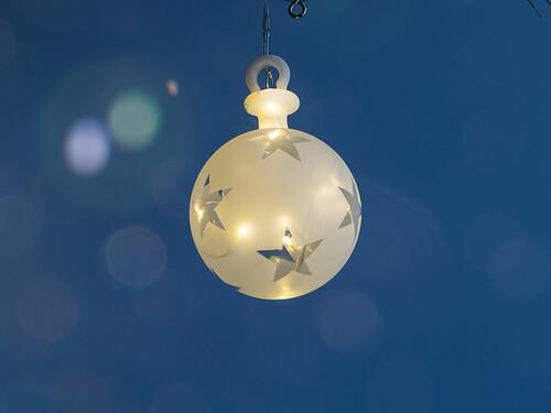 LED-Weihnachtsbaumanhänger Vega Ball
