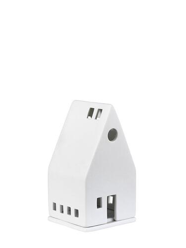Lichthaus kleines Haus | Porzellan, unglasiert