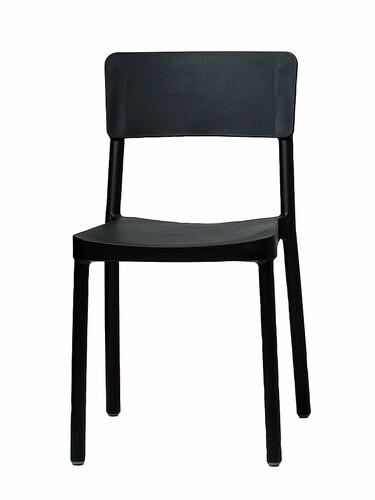 Stuhl Lisboa Stuhl | schwarz, Polypropylen, mit Fiberglas verstärkt