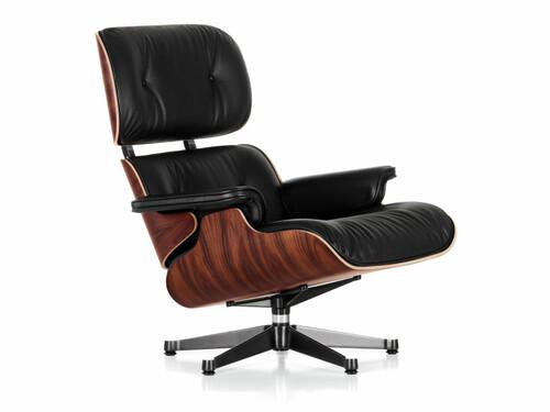 Lounge Chair XL Lounge Chair XL einzeln, Höhe 89 m (Neue Maße von 2010) | Palisander, Bezug Leder schwarz