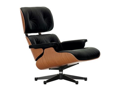 Lounge Chair XL Lounge Chair XL einzeln | Leder | Kirschbaum, Leder schwarz