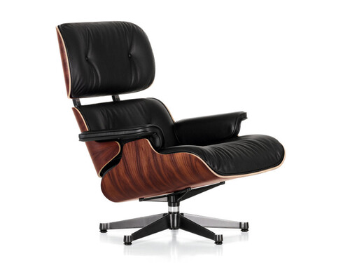 Lounge Chair XL Lounge Chair XL einzeln | Leder Premium | Palisander, Leder schwarz