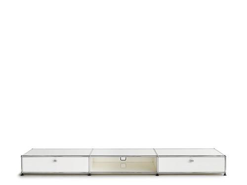USM Lowboard 3-fach breit, Schub/offen/Schub | reinweiß