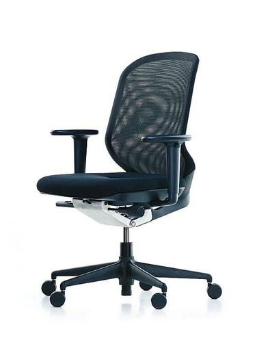 Bürodrehstuhl MedaPal mit Armlehnen   Rücken: schwarz, Sitz: schwarz