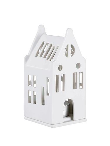 Mini-Lichthaus Herrenhaus | weiß