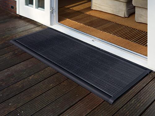 Outdoor-Fußmatte New Standard B 90 cm, T 60 cm | Aluminium anthrazit