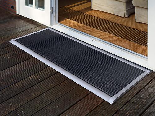 Outdoor-Fußmatte New Standard B 90 cm, T 60 cm | Aluminium silberfarben