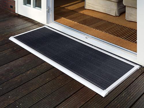 Outdoor-Fußmatte New Standard B 90 cm, T 60 cm | Aluminium weiß