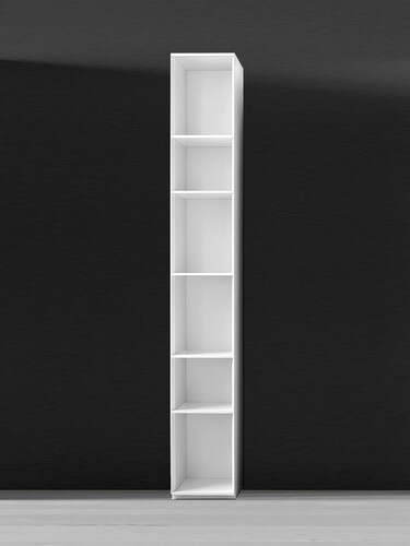 Regal Nex Pur B 30 cm, Regal, 6 Fächer, offen | weiß