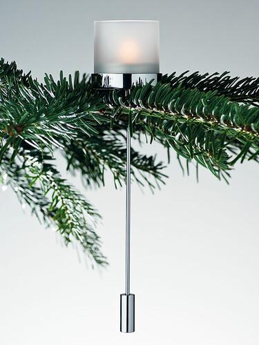 Teelichthalter Noel 2er-Set , Glas matt