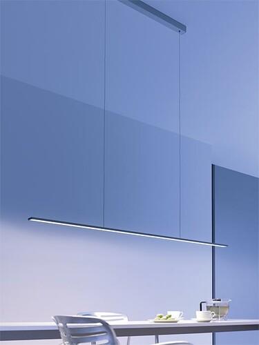 LED-Deckenleuchte GL 6 Pendelleuchte strahlt nach unten | Breite 90 cm ohne Sensordimmer | aluminiumfarbig