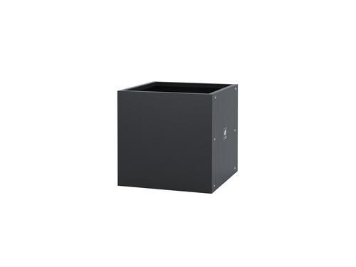Pflanzgefäß Metal Planter Cube Metal Planter Cube, H 50 cm | anthrazit