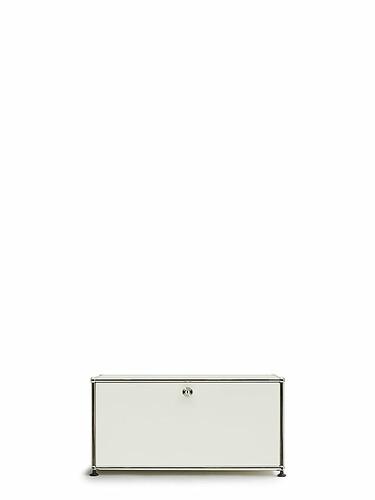 Regal USM 1-fach hoch, Breite 78 cm, 1 Klapptür | reinweiß