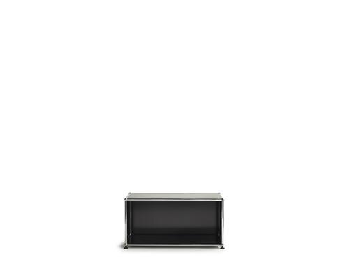 USM Regal 1-fach hoch | Breite 78 cm, offen | graphitschwarz