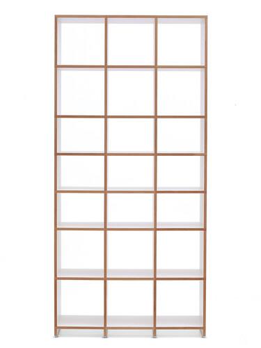 Regalsystem Mocoba Premium Höhe: 227 cm | weiß mit Eichekante