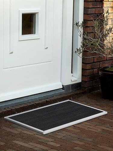 Outdoor-Fußmatte Urban 87 x 44 cm | silberfarben